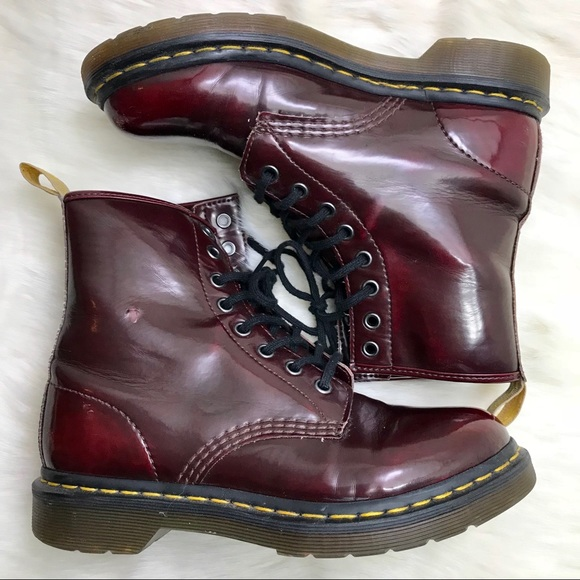 Dr. Martens 1460 Vegan Cherry Red Cambridge Brush